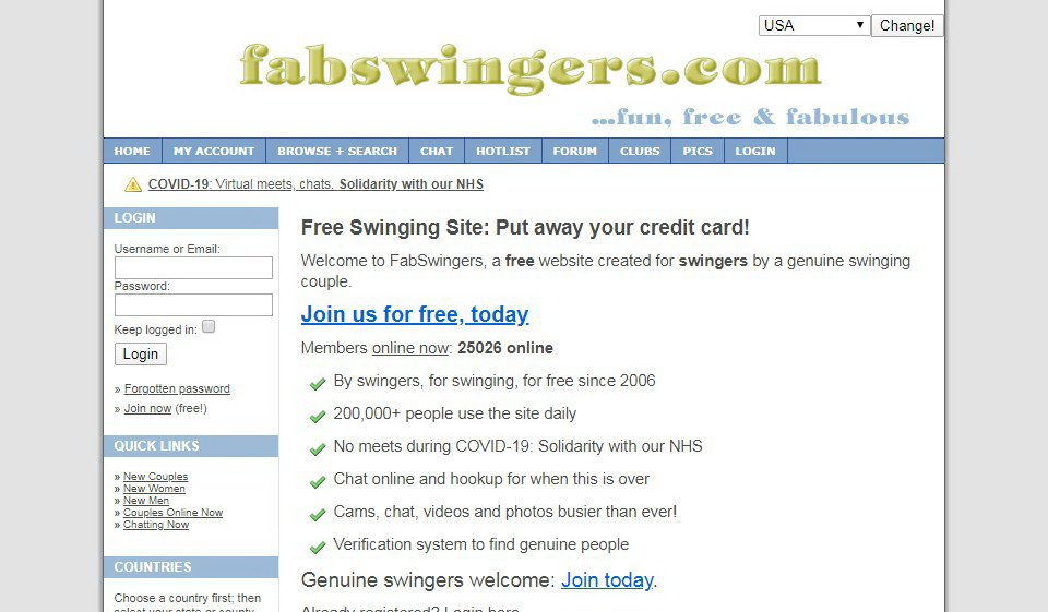 Fabswingers Recensione 2021
